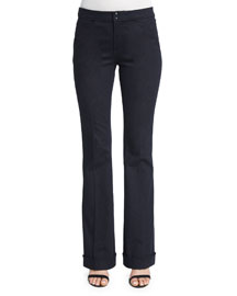 Bailee Mid-Rise Flare-Leg Jeans, Dark Night Wash