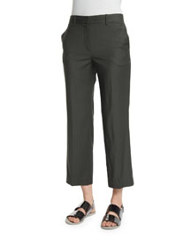 Lavzin Continuous Cropped Pants, Fir