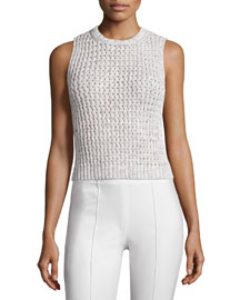 Malda Meridian Textured Sleeveless Sweater