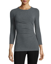 Uotab Ribbed Stretch-Knit Top