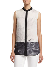 Vivian Sleeveless Silk Blouse