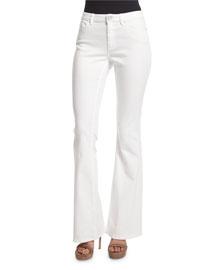 Janice Flare-Leg Jeans, White