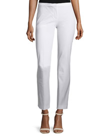 Lindley Skinny Ankle Pants, White