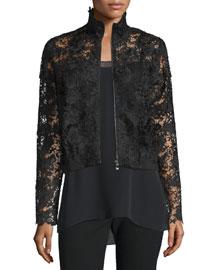 Suri Lace Zip-Front Jacket