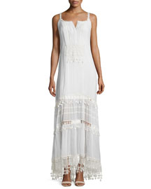 Keagan Maxi Dress with Crochet Trim