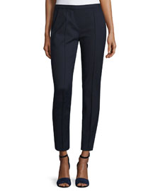 Karis Cropped Slim Pants, Stargazer