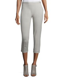 Alyssa Skinny Cropped Pants, Sand