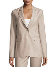 Aaren Continuous Wool-Blend Jacket, Gray