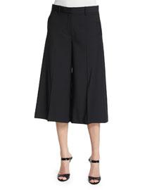 Halientra Cropped Wool-Blend Pants, Black