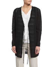Sheldon Self-Tie Woven Coat