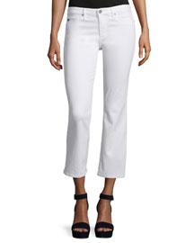 The Jodi Slim Flare Cropped Jeans, White