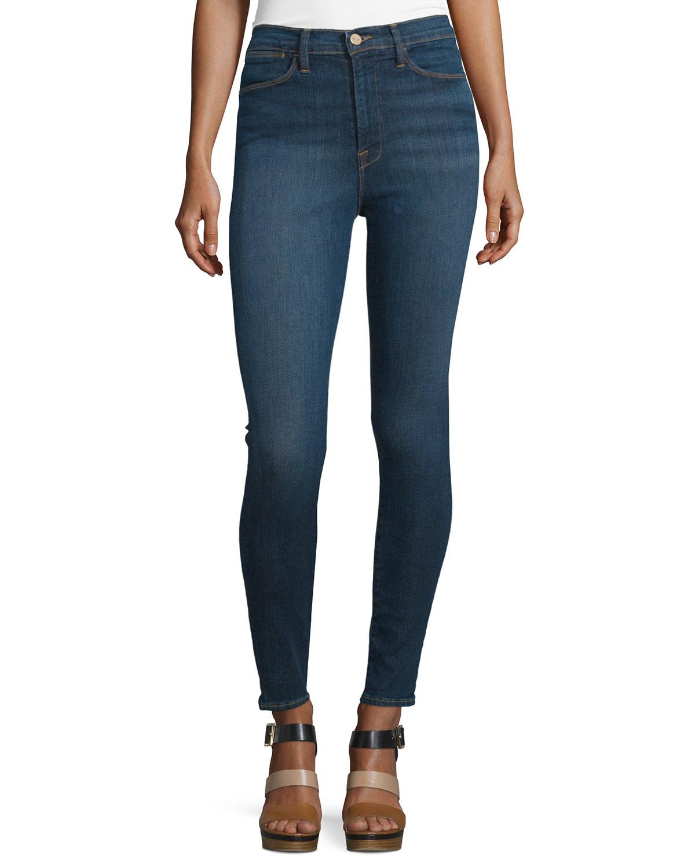FRAME DENIM Ali High-Waist Skinny Jeans, Holzmann, Size: 27