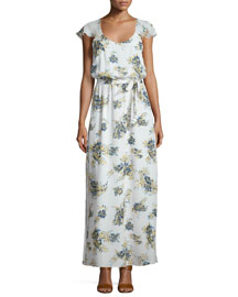 Astilbe Floral-Print Crepe Dress