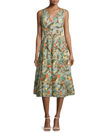 Jenn Sleeveless Floral Embroidered Dress