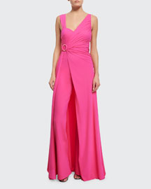 Tukarlie Two-in-One Convertible Jumpsuit, Glossy Pink