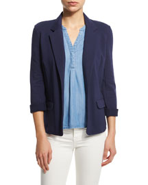 Camylle Open-Front Jacket, Peacoat