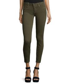 Verdugo Skinny Ankle Jeans, Deep Olive