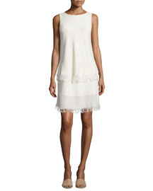 Jurinzi Prosecco Fringe-Trim Dress