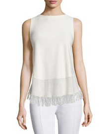Vendla Prosecco Fringe-Trim Top