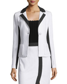 Two-Tone One-Button Jacket