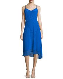 Shirley Sleeveless Asymmetric-Hem Dress, Oasis