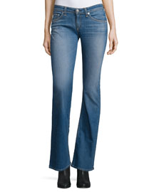 Low-Rise Boot-Cut Jeans, Delancey