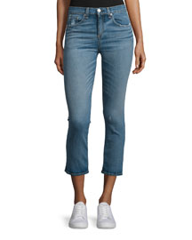 Mid-Rise Cropped Jeans, Stark