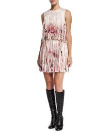 Eleanor Printed Fringe Dress, Botanica