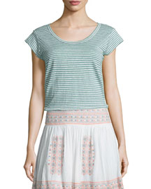 Neyo Striped Linen Top