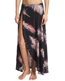 June Cover-Up Silk Maxi Skirt, Krishna