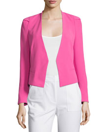 Refined Stretch Suit Jacket, Fuchsia