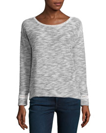 Katelin B Melange Long-Sleeve Top
