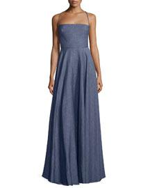 Denim Linen Apron Dress