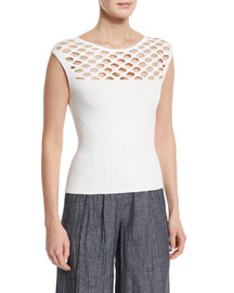 Chain-Link Knit Tank Top