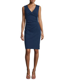 Layne Ruched Sheath Dress, Midnight