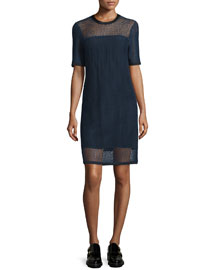 Luna Mesh Shift Dress, Salute