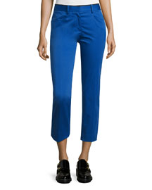 Audrey Cropped Stretch Pants, Clematis Blue