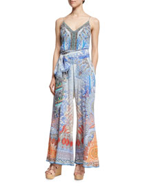 Embellished Wide-Leg Jumpsuit, Realm