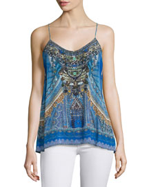 Shoestring-Strap Embellished Top, Palace of Dreams