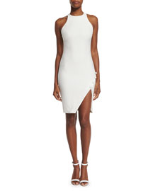 Sophia Sleeveless Sheath Dress, Ivory