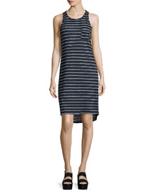 Double-Striped Sleeveless Tank Dress
