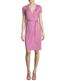 New Julian Two Peace Palm Wrap Dress, Pink