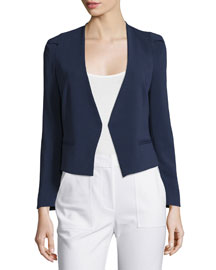 Refined Stretch Suit Jacket, Navy