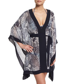 Maldives Printed Short Caftan Coverup