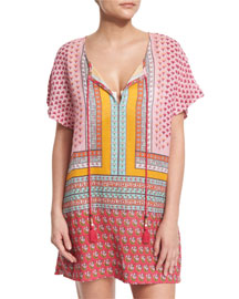 Panarea Multi-Print Tunic Coverup