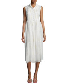 Nieves A-Line Dress, White