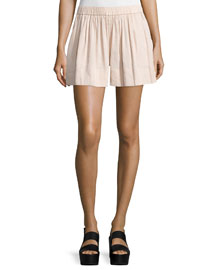 Linen-Blend Pull-On Shorts, Rose Water
