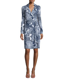 New Jeannie Two Flower Power Wrap Dress, Midnight