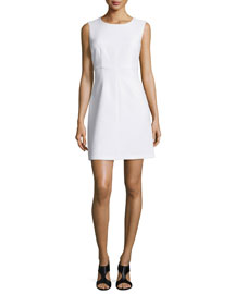 Sleeveless Carrie A-Line Dress, White