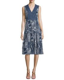 Vanya Dream Dot A-Line Dress, Midnight